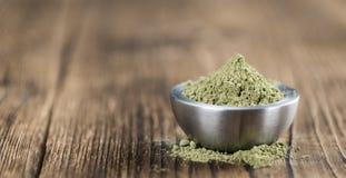 Polvere della foglia di stevia Fotografia Stock