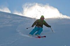 Polvere della neve e Freerider Fotografie Stock Libere da Diritti