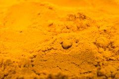 Polvere della spezia dello zafferano Fotografia Stock