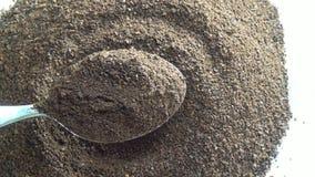 Polvere di Brown, spezie, grani, sabbia archivi video