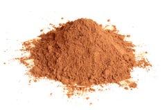 Polvere di cacao naturale Immagine Stock