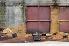 Polvere di legno in fabbrica Fotografie Stock Libere da Diritti