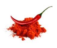 Polvere di peperoncino rosso Fotografia Stock Libera da Diritti