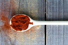 Polvere di peperoncino rosso rossa Immagine Stock Libera da Diritti