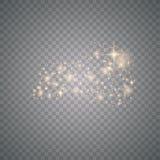 Polvere di stella brillante dell'oro illustrazione vettoriale