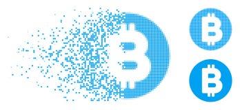 Polvere Dot Halftone Bitcoin Icon Royalty Illustrazione gratis