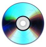 Polvere e graffi sul DVD del CD Fotografia Stock
