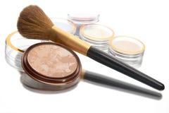 Polvere e spazzola Fotografia Stock