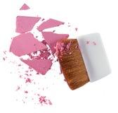 Polvere e spazzola cosmetiche Immagine Stock Libera da Diritti