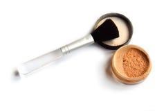 Polvere e una spazzola Fotografia Stock