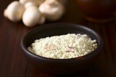 Polvere istantanea della zuppa di fungo fotografie stock