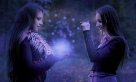 Polvere magica Fotografie Stock