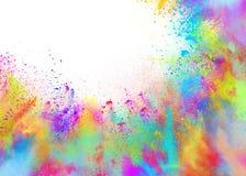 Polveri colorate per il partito di colore di holi della molla immagini stock libere da diritti