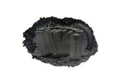 Polvo activado del carbón de leña tirado con la lente macra Imágenes de archivo libres de regalías