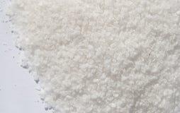 Polvo blanco de la sal foto de archivo libre de regalías