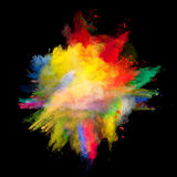 Polvo coloreado Imágenes de archivo libres de regalías