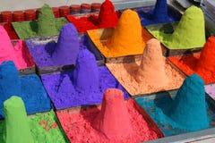 Polvo coloreado del tika Fotografía de archivo libre de regalías