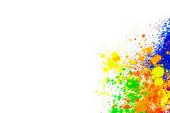 Polvo coloreado natural del pigmento imagenes de archivo