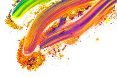 Polvo coloreado natural del pigmento Lugar para el texto imagen de archivo libre de regalías