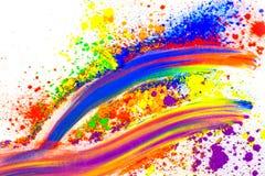 Polvo coloreado natural del pigmento foto de archivo