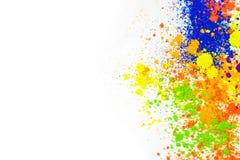 Polvo coloreado natural del pigmento imagen de archivo libre de regalías