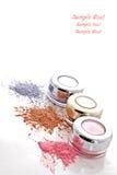 Polvo colorido del maquillaje Imagenes de archivo