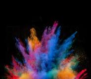 Polvo colorido lanzado Imagen de archivo libre de regalías