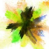 Polvo colorido lanzado stock de ilustración