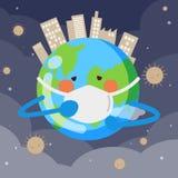 Polvo con Día de la Tierra libre illustration