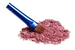 Polvo cosmético Foto de archivo libre de regalías