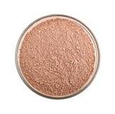 Polvo cosmético rosado de la arcilla imagenes de archivo