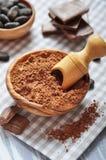 Polvo de cacao Fotografía de archivo libre de regalías