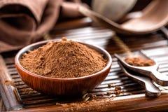 Polvo de cacao Fotos de archivo libres de regalías