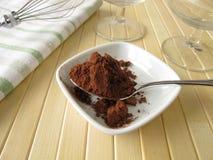 Polvo de cacao puro Imagenes de archivo