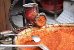 Polvo de chile rojo foto de archivo