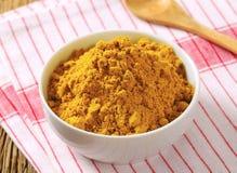 Polvo de curry Fotos de archivo libres de regalías