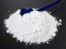 Polvo de la Ácido-Base-balanza - nutrición sana foto de archivo