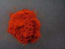 Polvo de la paprika Fotografía de archivo