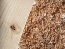 Polvo de madera del serrín Imagen de archivo
