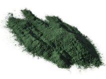 Polvo de Spirulina Imagen de archivo libre de regalías