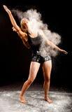 Polvo del blanco de la bailarina Imagenes de archivo