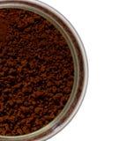 Polvo del café en la botella Fotografía de archivo