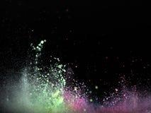 Polvo del color en la dispersión fotos de archivo