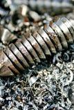 Polvo del hierro Imagen de archivo libre de regalías