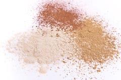 Polvo del maquillaje Imagen de archivo libre de regalías