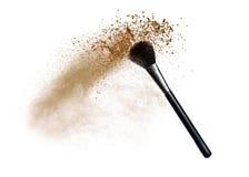 Polvo del maquillaje imagenes de archivo