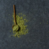 Polvo del té verde de Matcha Fotos de archivo libres de regalías