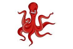 Polvo do vermelho dos desenhos animados do vetor ilustração stock
