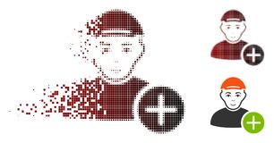 Polvo Dot Halftone Add User Icon Libre Illustration