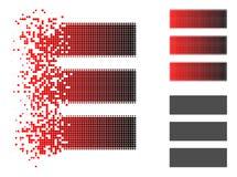 Polvo Dot Halftone Database Icon ilustración del vector